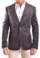 Bikkembergs Men's Grey Cotton Blazer.