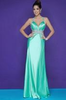 Blush Lingerie Embellished Halter Strap Neck A-line Gown 9622