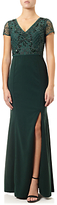 Adrianna Papell Jersey Beaded Gown, Emerald