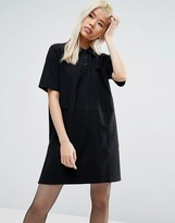 Asos New Polo Mini Shift Dress In Pique Fabric