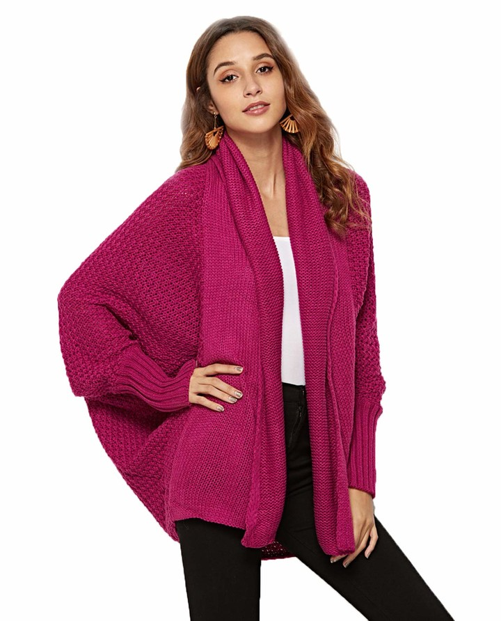 UMIPUBO Women Sweater Open Front Long Sleeve Chunky Knit Cardigan Fashion Jumper Jacket Coat Knitted Top Oversized Sweater Coat