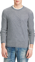 Polo Ralph Lauren Stripe Cotton Cashmere Jumper, Navy/Light Grey Heather