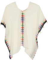 Mes Demoiselles Tian triangle-print cotton kaftan