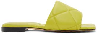 Bottega Veneta Green Lido Flat Sandals