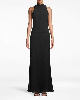 Nicole Miller Techy Crepe Combo Gown