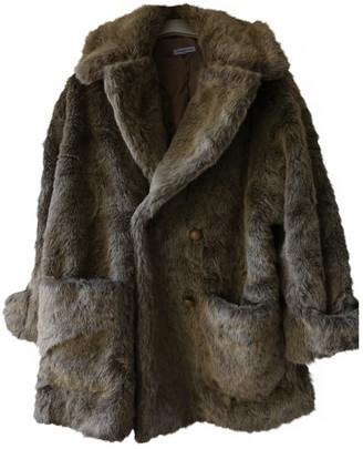 Surface to Air Ecru Faux fur Coats
