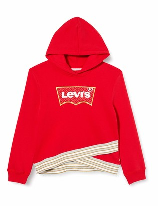 Levi's Kids Lvg Cross Over Hoodie Sweatshirt Girls Black 10 Years