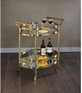 ACME Furniture 98190 Lakelyn Clear Glass and Gold Serving Cart