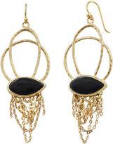Barse FINE JEWELRY Art Smith by Onyx & Gold-Tone Chain Earrings