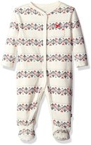 """Nautica Baby Girls' """"Fair Isle Anchor"""" Footed Coverall"""