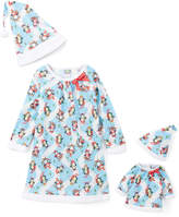 Dollie & Me Blue Penguin Nightgown Set & Doll Outfit - Toddler & Girls