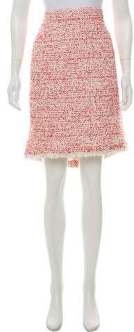 Chanel Fringe-Trimmed Tweed Skirt