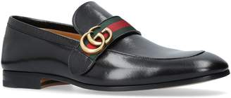 Gucci Donnie Webbed Loafers
