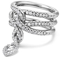David Yurman Continuance Drop Ring with Diamonds in 18K Gold