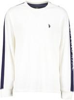 U.S. Polo Assn. Men's Tee Shirts VLPR - White & Navy Logo-Arm Long-Sleeve Thermal - Men