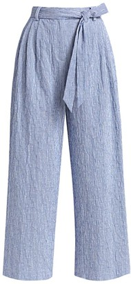 By Any Other Name Lindburg Seersucker Belted Pants