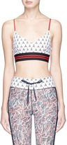 The Upside 'Witch Mountain Zoe' print cropped top