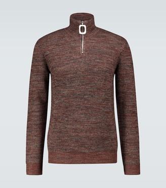 J.W.Anderson Henley neckband wool sweater