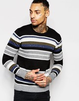 Diesel Crew K-Calib-B Stripe Sweater
