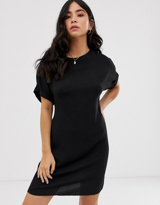 New Look belted tunic in black
