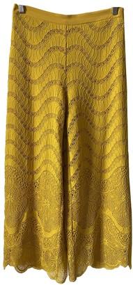 Twin-Set Twin Set Yellow Trousers for Women