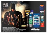 Gillette Gift Justice League Set With Fusion5 Proshield Razor + 2 Cartridges - Shave Gel - Cool Wave Antiperspirant - Body Wash