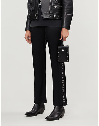 The Kooples Sport High-rise straight-leg stretch-jersey trousers