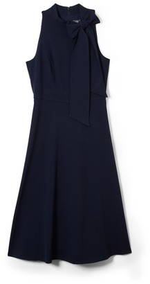 Vince Camuto Bow-Neck Fit-And-Flare Dress