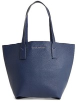 Marc Jacobs 'Wingman' Leather Shopping Tote - Blue