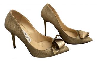 Jimmy Choo Romy Gold Glitter Heels
