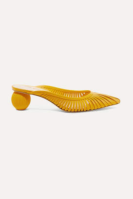 Cult Gaia Alia Leather Mules - Marigold