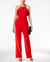 ECI Ruffled Wide-Leg Jumpsuit