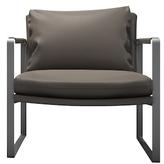 Modloft Charles Stainless Steel Armchair