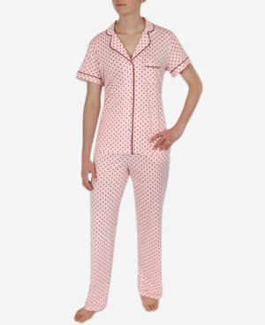 Sesoire Women's Soft Knit Printed Pajama Set