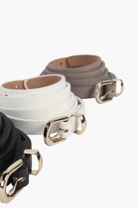 boohoo Skinny Belts 3 Pack