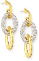 Gurhan 24k Triple Galahad Earrings with Diamonds