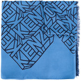 Kenzo embroidered scarf - women - Modal/Silk - One Size