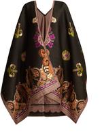 Etro Paisley-jacquard wool-blend wrap