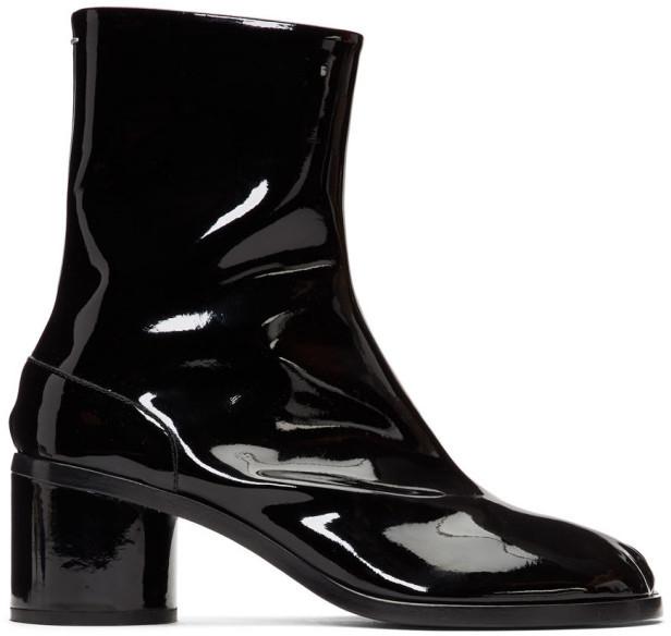 Maison Margiela Black Patent Tabi Boots