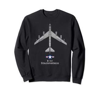 Designed For Flight B-52 Stratofortress Tech Drawing Cold War Bomber Sweatshirt