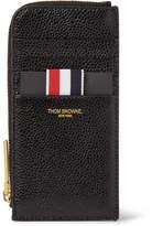 Thom Browne Pebble-Grain Leather Zip-Around Cardholder