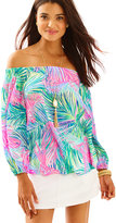 Lilly Pulitzer Adira Silk Off The Shoulder Top