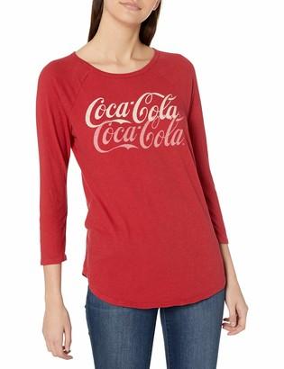 Lucky Brand Women's 3/4 Sleeve Scoop Neck Coca-Cola Raglan Tee
