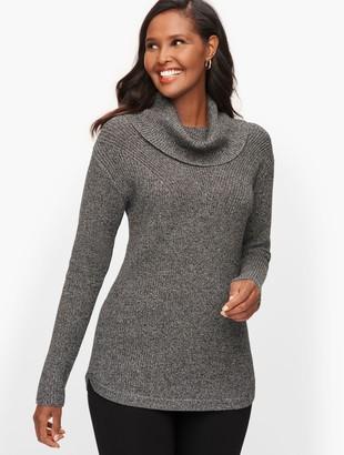 Talbots Cotton Modal Cowlneck Sweater - Marl