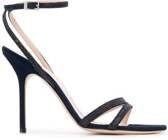 Pollini Embellished High Heel Sandals