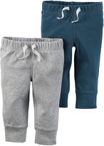 Carter's 2-pk. Blue and Heather Pants - Baby Boys newborn-24m