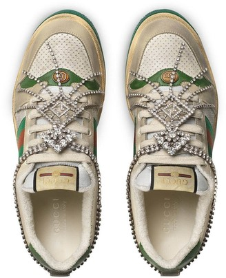 Gucci Crystal Screener Sneaker Multicolor