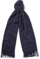 Acne Studios Canada Mélange Virgin Wool Scarf - Navy