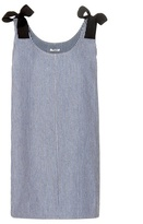 Miu Miu Striped cotton dress
