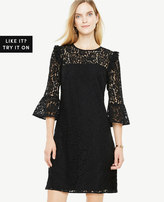 Ann Taylor Bell Sleeve Lace Shift Dress